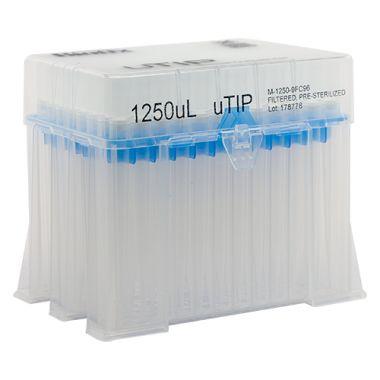 Biotix uTip Universal Fit tip 1250uL, Filter, X-Resin, Sterile 960/pk