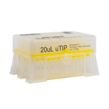 Biotix uTip Universal Fit tip 20uL, Filter, X-Resin, Sterile, 960/pk