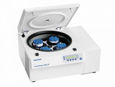 Eppendorf Centrifuge 5810R refrigerated, 15/50mL tube adaptors, keypad, 120 V