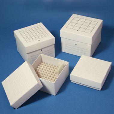 "Globe Cardboard Storage Box (10x10), white, for up to 2"" x 12mm tubes"