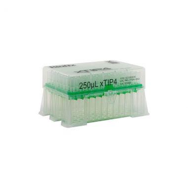 Biotix 63300021 xTip4 racked tips, 250uL, low retention, 10 rks/pk, 5 pks/cs