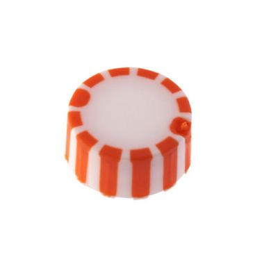 Celltreat 230840N CAP ONLY,Screw Top MicroTube Cap,Grip Cap w/Int. O-Ring,Orange