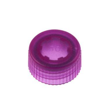 Celltreat 230842P CAP,Screw Top Microtube Cap,O-Ring,Translucent,Purple,Non-ster