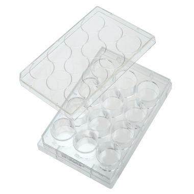 Celltreat 12 Well Tissue Culture Plate with Lid, Individual, Sterile, cs/50