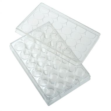 Celltreat 24 Well Tissue Culture Plate with Lid, Individual, Sterile, cs/50