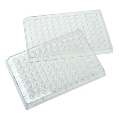 Celltreat 96 Well Tissue Culture Plate, Round Bottom with Lid, Individual, Sterile, CS/100