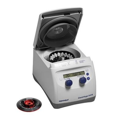 Eppendorf Centrifuge 5418 R 5401000137, with FA-45-18-11 and rotor lid, 120 V, 50/60 Hz
