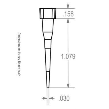 Labcon 1161-250-000-9 SuperSlik 10uL Low Retention Pipet Tips Eclipse Mini Refills