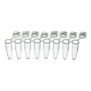 Labcon 3927-550-000-9 PurePlus 0.2mL 8-Well PCR Tube Strips w/Clear Flat Caps,pk/120