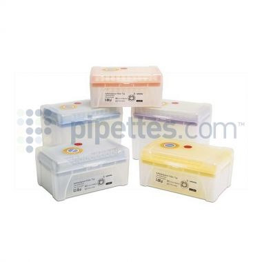 Sartorius Optifit Tip, 5-350 uL, Sterile, racked, 960/cs