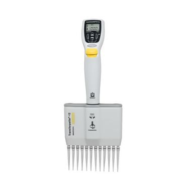 BrandTech Transferpette Electronic MuLtichannel Pipette, 12-channel, 5-100uL