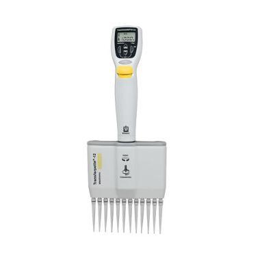 BrandTech Transferpette Electronic MuLtichannel Pipette, 12-channel, 5-100uL