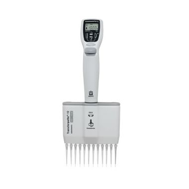 BrandTech Transferpette Electronic MuLtichannel Pipette, 12-channel, 0.5-10uL