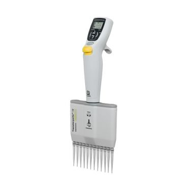 BrandTech Transferpette Electronic MuLtichannel Pipette, 12-channel, 10-200uL