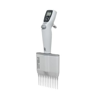 BrandTech Transferpette Electronic MuLtichannel Pipette, 12-channel, 1-20uL