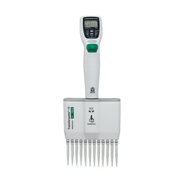 BrandTech Transferpette Electronic MuLtichannel Pipette, 12-channel, 15-300uL